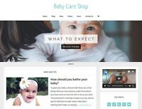 [NEW DESIGN] * BABY CARE STORE *  blog website business for sale AUTO CONTENT