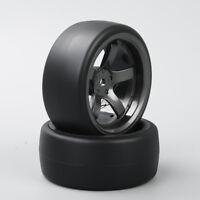 HobbyGo Set of 4 1:10 Speed Drift Racing Tyre Wheel Rim For HSP HPI RC Car D5M