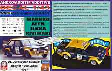 ANEXO DECAL 1/43 FIAT 131 ABARTH MARKKU ALEN 1000 LAKES 1977 (01)