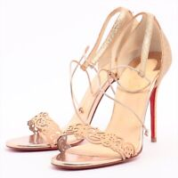 Christian Louboutin Glitter Sandals 37 1/2 Ladies Gold