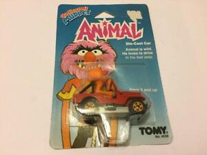 Vintage 1983 TOMY Jim Henson's MUPPET Animal Jeep Diecast Car MOC