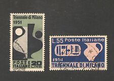 Italy #582-583 VF USED - 1951 20 l to 55 l Triennial Art Exhib - SCV $56.50