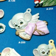 Ceramic Bisque Ornament Angel Mouse with Harp Alberta 255 U-Paint Ready To Paint
