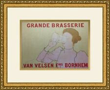 Armand Rassenfosse - Van Velsen Brewery European Advertising Print Newly Framed