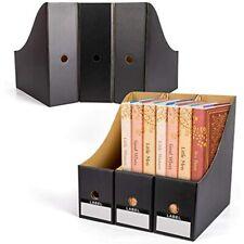 Wecharm Office Magazine File Holder Organizers 6pack Home School Sturdy Black
