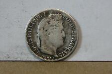 Monnaie france demi franc 50 centimes 1841 B louis philippe argent rare