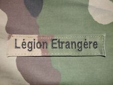 Ecusson bande patro Légion Etrangère camouflage C/E patch badge patronymique