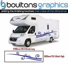 XL MOTORHOME STRIPES -Camper Van Sticker Kit Horsebox Caravan Decals Freedom SW1