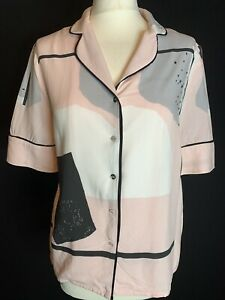 Oliver Bonas Ladies Cropped Boxy  Festival Shirt Blouse  Size 8 (D2)
