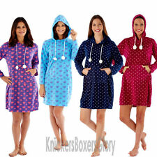 Knee Length Polyester Spotted Nightwear Robes for Women
