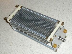 Variable air capacitor 350pF 4KV transmitting 13.56MHz