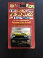 Matchbox World Class Collectors Ed Series 2 #9 WC016 Rolls Royce Silver Cloud- B