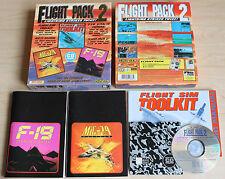 Flight Pack 2 mig-29 f-19 Flight-SIM Toolkit CD (PC, 1995, Big-Box)