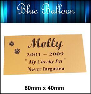 Weatherproof Pet Memorial Plaque , Dog .Cat Bird...- Engraved. Personalised