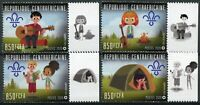 Central African Republic Scouting Stamps 2020 MNH Boy Girl Scouts 4v Set