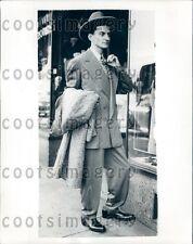 1971 Hep Cat Man Models London Drape Zoot Suit Press Photo
