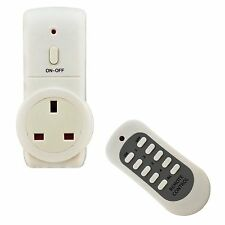 Energy Saving UK Plug Remote Control Socket Wireless Switch Mains Adaptor Plug