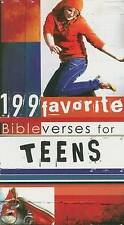 """""""AS NEW"""" 199 Favorite Bible Verses for Teens, Christian Art Gifts, Book"""