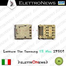 Lettore Sim Samsung S3 Neo GT-I9301 Lettore Micro SD S3 Neo I9301 Foto Reali