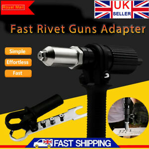 Electric Rivet Nut Gun Cordless Drill Pop Adapter Riveting Riveter Insert Sets