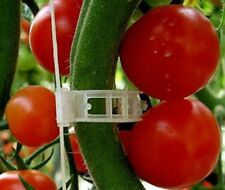 Plant Clips Support Tomatoes, Peppers, Vines & Flowers to Grow Upright: 100 Pack