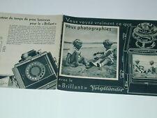 BRILLANT VOIGTLANDER rare publicité d'époque 8 pages photo photographie