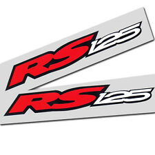 Aprilia RS 125 Motorcycle graphics stickers decals x 2 Red white black