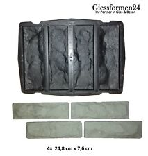 Schalungsformen Gießformen für Beton, Gips Riemchen 4-fach Struktur