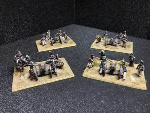 Painted British Royal Foot Artillery Waterloo4 x 4 figures and Canon 1/72