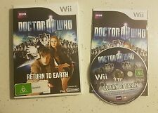 Doctor Who Return To Earth (Wii Nintendo) Game Complete- PAL- LIKE NEW!