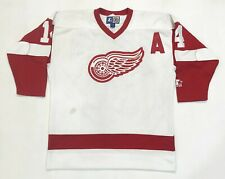 Vintage Starter Detroit Red Wings SHANAHAN #14 NHL Hockey Jersey L/XL White Sewn