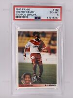 1997 Thierry Henry RC Rookie Equipos Europa #182 Monaco France Arsenal PSA 6