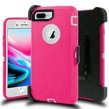Shockproof Hard Case Cover iPhone 7 8 Plus [ Belt Clip Fits Otterbox Defender ]