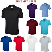 Men's Cotton Polo Shirt Short Sleeve Golf Sports Jersey Casual Plain T Shirt New
