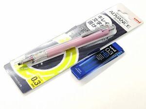 Uni Ball Kuru Toga Advance M3-559 Mechanical Pencil 0.3mm +free Leads, BABY PINK