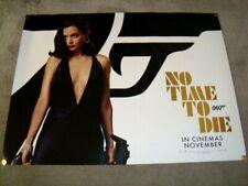 brand new NO TIME TO DIE JAMES BOND 007 ORIGINAL UK QUAD MOVIE POSTER NOV 2020