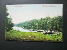 QUEENS MERE, WIMBLEDON COMMON - CHILDREN & DOG BY RIVER (1906)