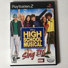 High School Musical Sing It! Ps2 Great condition