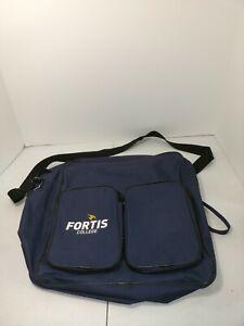 Fortis College Logo Shoulder Bag Blue