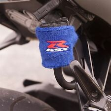Small Blue Brake & Clutch Reservoir Sock Cover Motorcycle Dirt Bike Oil GSXR