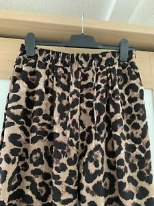 Pretty Little Thing Animal Print Trousers Size 14 Elastic Waist