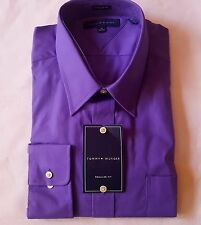 TOMMY HILFIGER DRESS SHIRT 17 32 33 purple PLUM REGULAR fit MSRP$65