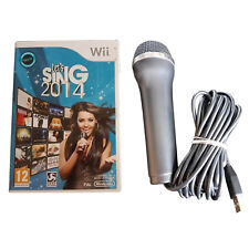 Let's Sing 2014 + Logitech USB Microphone - Wii / Wii U - PAL - RARE - Fast P&P!