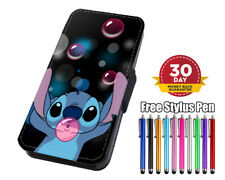 Cute Baby Stitch Flip Phone Case Cover for iPhone Samsung And Huawei