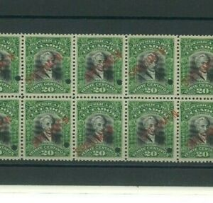 ECUADOR Stamps 1907 *SPECIMEN* 20c President Carrion Block{10} Mint UM MNH MF108