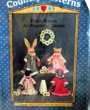 Ozark Crafts Fresh Scents Air Freshener Cover cow MOUSE bunny Bear vtg 90s