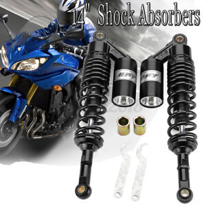 2x 360mm 14'' Rear Air Shock Absorbers Suspension Motorcycle ATV Quad Dirt Bike