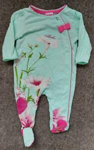 GIRLS, TED BAKER,FLORAL ALL IN ONE.ROMPER/BABYGRO,  , 3-6 MONTHS