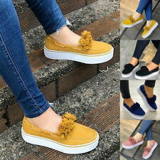 Lady Summer Casual Flower Platform Pumps Shoes Comfy Slip On Loafers Shoes SH.