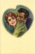 Metlicovitz - Coppietta Romantica, Romantic Couple - Cuore, Heart - M068
